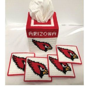Arizona Cardinals Tissue Box Coasters